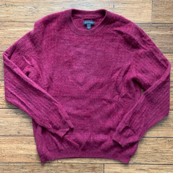 John W. Nordstrom Other - Burgundy Red Cashmere Crew Neck Sweater